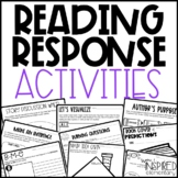 Reading Response Activities | Reading Comprehension Sheets | Book Activities