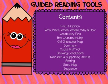 Guided Reading Comprehension Graphic Aids