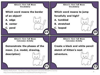 Kitten's First Full Moon by Kevin Henkes 2nd Grade or 1st Grade Book Companion