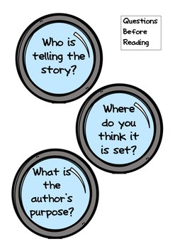 Guided Reading Comprehension Magnifying Questions