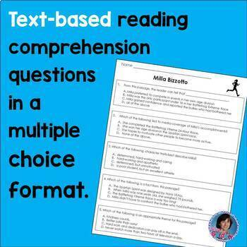 Guided Reading Comprehension Passages Levels S & T: Athletes Overcoming the Odds