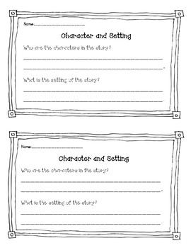 Guided Reading Comprehension Response Worksheets