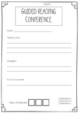 Guided Reading Conference Forms