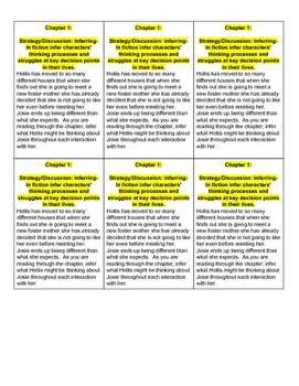 Guided Reading Lesson Plans- Pictures of Hollis Woods Level V