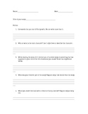 Guided Reading & Daily 5 Fiction Response Sheet
