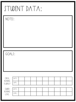 Guided Reading Data Binder for Kindergarten and First Grade