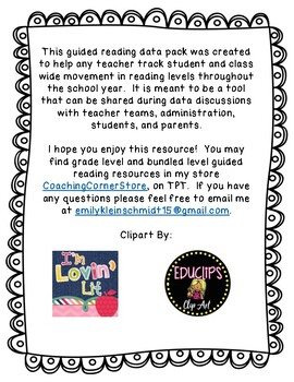 Guided Reading Data Pack