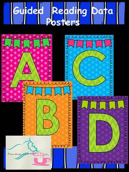 Guided Reading Data Posters