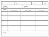 Guided Reading Data Sheet