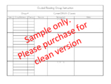 Guided Reading Data and Note-taking Chart
