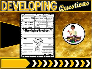 Developing Questions Graphic Organizer  Ask and Answer Questions RL1.1
