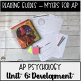 Guided Reading: Development Unit Myers' Psychology for AP