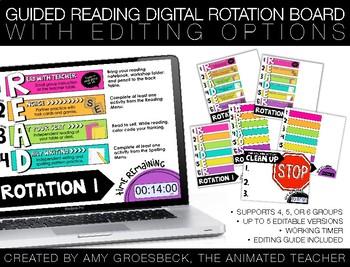 Guided Reading Digital Rotation Board