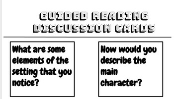 Guided Reading Discussion Cards