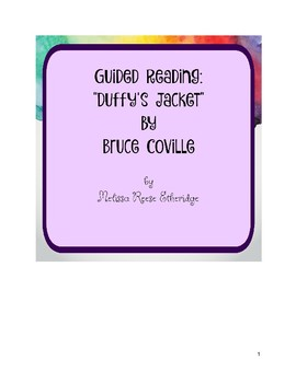 "Guided Reading: ""Duffy's Jacket"" by Bruce Coville"
