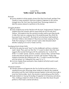 """Guided Reading: """"Duffy's Jacket"""" by Bruce Coville"""