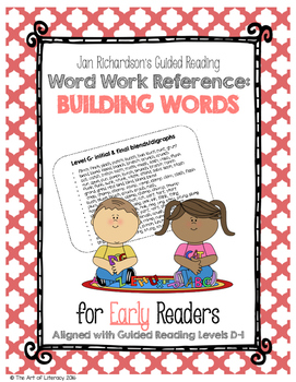 Guided Reading Early Word Work: Building Word Ladders