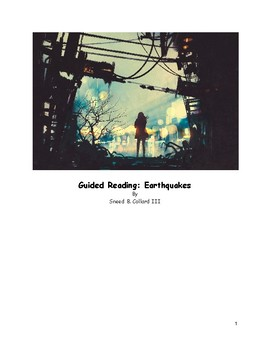 """Guided Reading: """"Earthquakes"""" by Sneed B. Collard, III"""