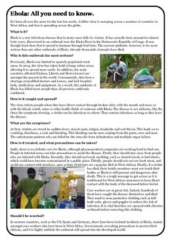 Guided Reading: Ebola - All you need to know