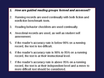 Guided Reading (Elementary) Professional Development Outline & Presentation