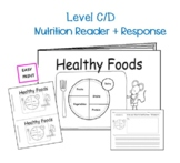 Guided Reading Level C Non Fiction Printable Book and Lesson Plan: Healthy Foods