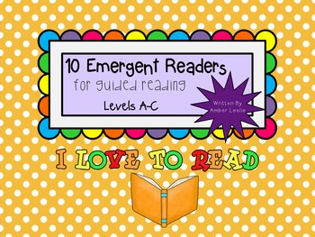 Guided Reading- Emergent Readers for Kindergarten Levels A-C Set #3
