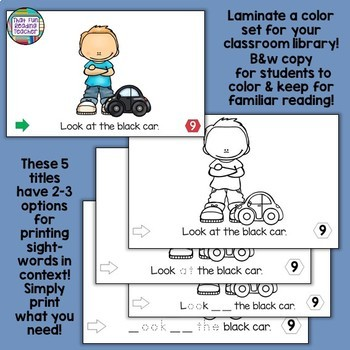 Level A Level B Sight-Word Readers Writing Sets