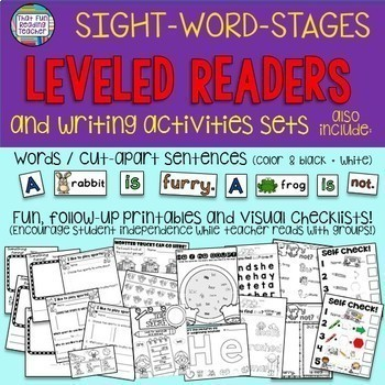Sight Word Leveled Readers and Activities: Level A/B 10 pack