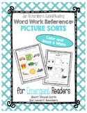 Guided Reading Emergent Word Work: Medial Short Vowel Pict