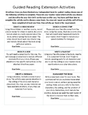 Guided Reading Enrichment Activities