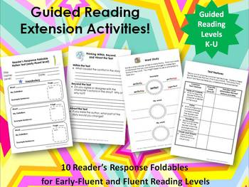 Guided Reading Extension Activities:  Early-Fluent and Fluent Readers Bundle