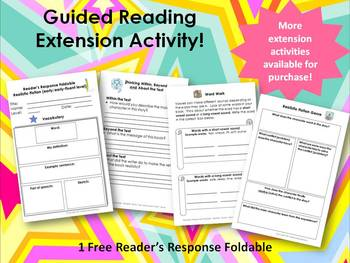 Guided Reading Extension Activity: Realistic Fiction Foldable