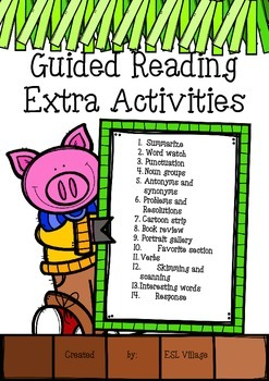 Guided Reading Extra Activities