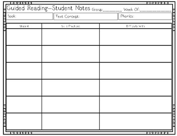 Guided Reading - FREEBIE
