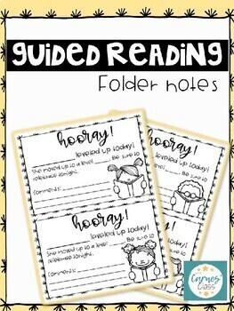 Guided Reading Folder Notes