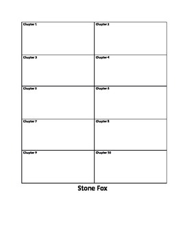 Guided Reading Follow Up form for Stone Fox