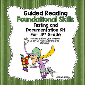 Guided Reading Foundational Skills Testing and Documentation Kit for 3rd Grade