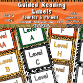 Guided Reading/ Fountas & Pinnell Labels  APT-001