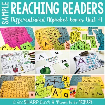 Reaching Readers Alphabet Games Sample