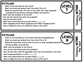 Guided Reading Goal Questions