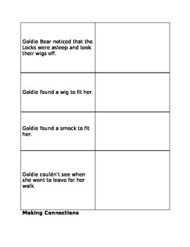 Guided Reading - Goldie Bear and the Three Locks