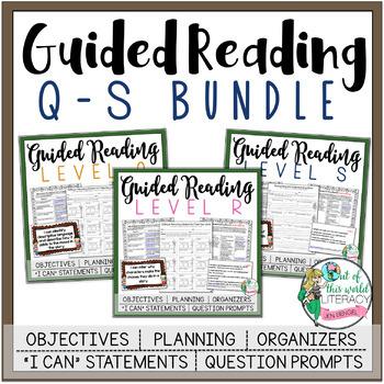 Guided Reading Lesson Plans Bundle: Levels Q-S