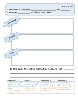 Guided Reading Graphic Organizers- 1st Grade