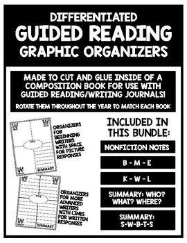 Guided Reading and Writing Graphic Organizers (Bundle)