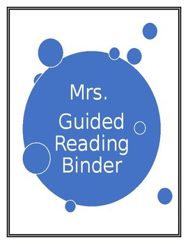 Guided Reading Group Binder Cover