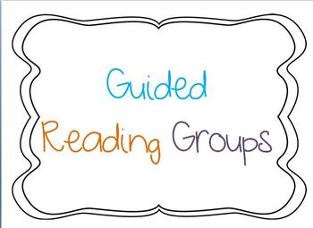 Guided Reading Group Chart Sign