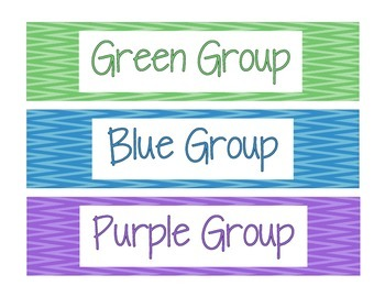 Guided Reading Group Drawer Labels