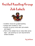 Guided Reading Group Job Desk Signs, standards based, job