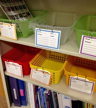 Guided Reading Group Labels for basket or bins