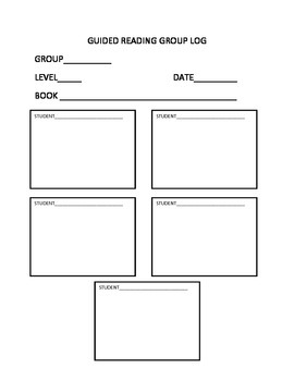 Guided Reading Group Log